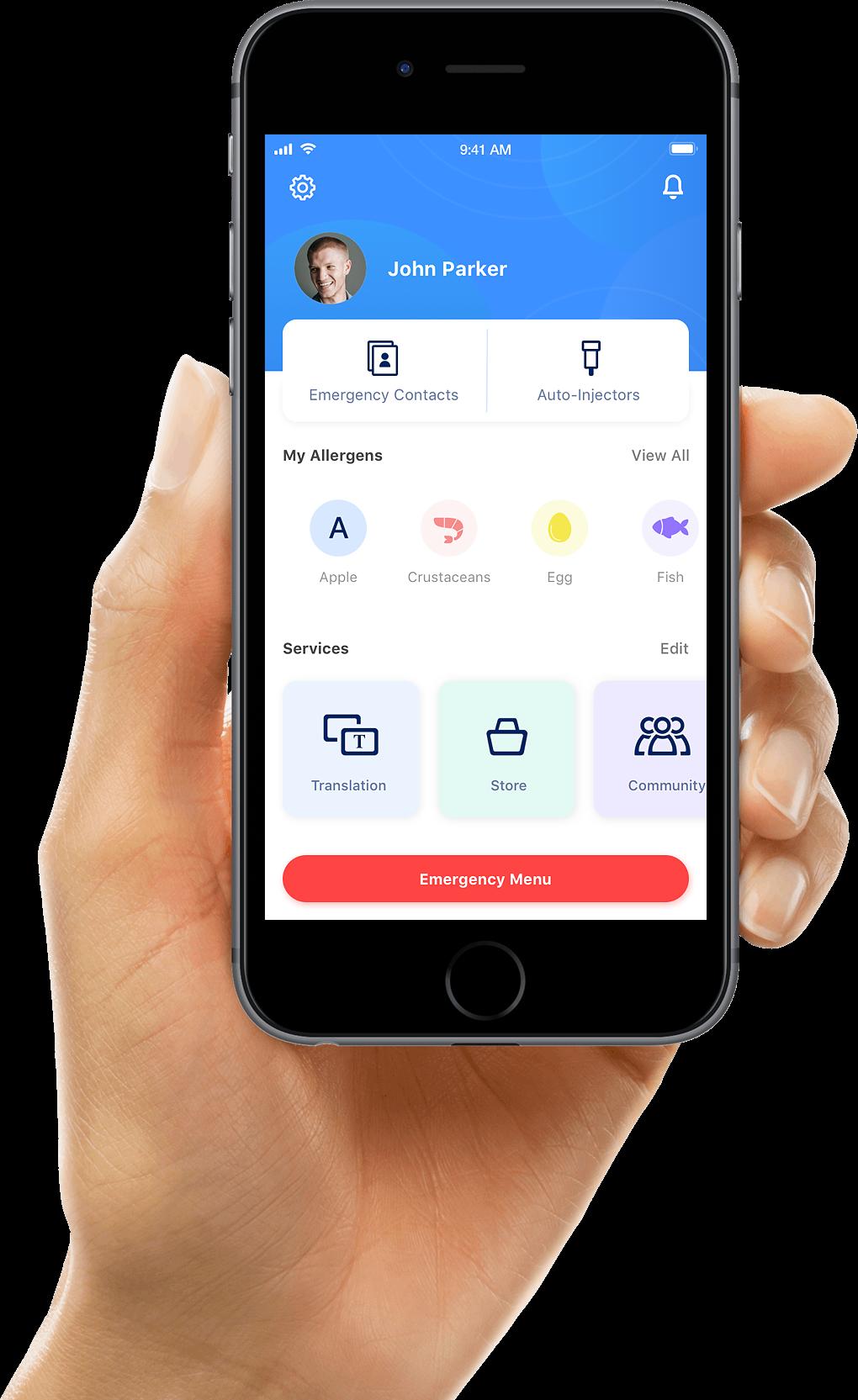 EpiCenter App Homescreen