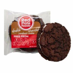 red plate food cookies